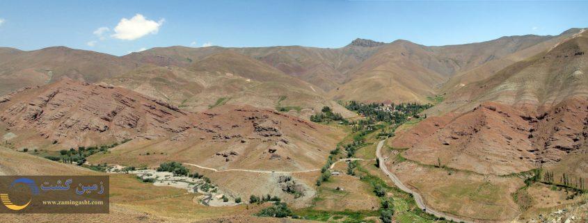 روستای آزادبر در جاده چالوس
