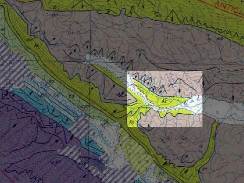 نقشه زمین شناسی تنگ چناران