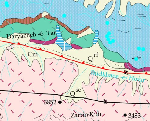 Geological Map of Tar Lake