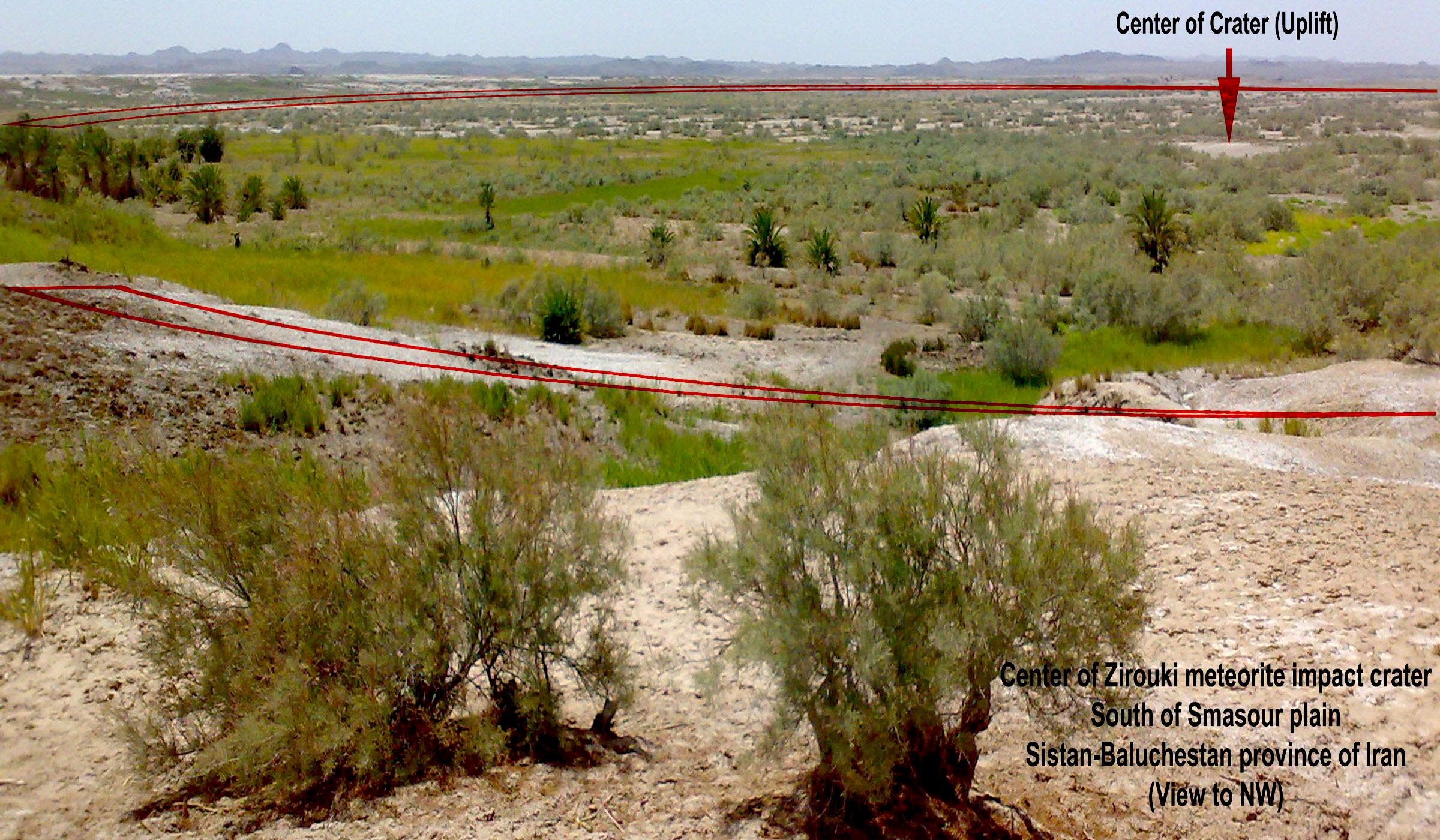 نمایی از گودال زیروکی در دشت سمسور استان سیستان و بلوچستان