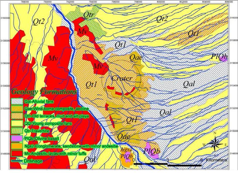 نقشه زمین شناسی مقیاس 1:100000 محدوده مطالعاتی